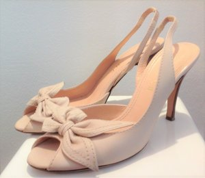Celine High Heel Sandal cream leather