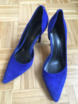 Céline Pumps Velourleder blau