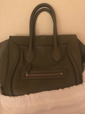 Celine purse tote bag Medium luagge Khaki Leder