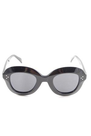 Celine Retro Brille schwarz klassischer Stil