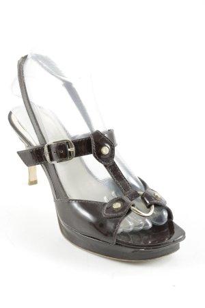 Celine Riemchen-Sandaletten dunkelbraun Elegant