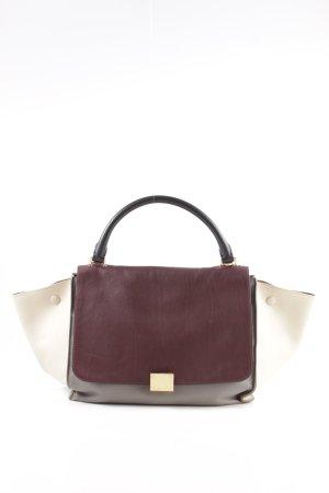 Celine Shoulder Bag red-cream business style