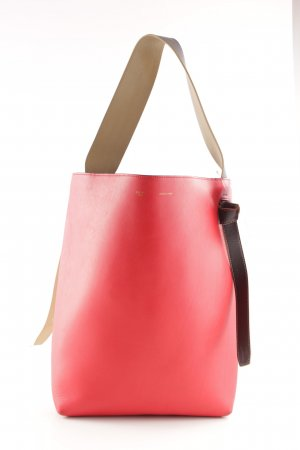 """Celine Shopper """"Small Twisted Upright Tote Chili/Pale Pink """""""