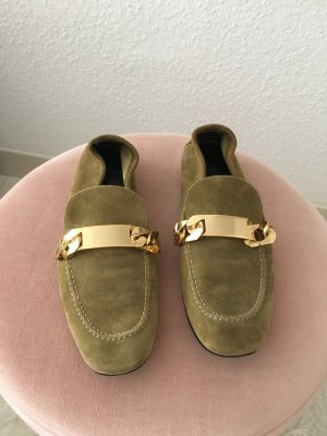 Celine Slipper Olivgrün Goldkette