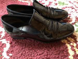 Celine Slipper schwarz Leder Schuhe 38 Lack
