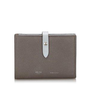 Celine Wallet green leather