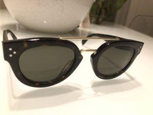 Celine Sunglasses dark brown-gold-colored