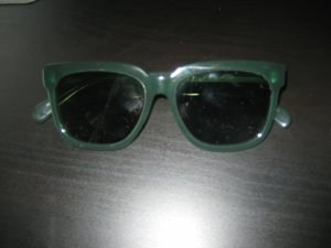 Celine Angular Shaped Sunglasses green acetate