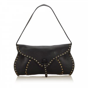 Celine Studded Leather Baguette