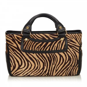 Celine Tiger Print Pony Hair Boogie