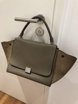 Celine Trapez Tasche Medium beige/taupe/schlamm
