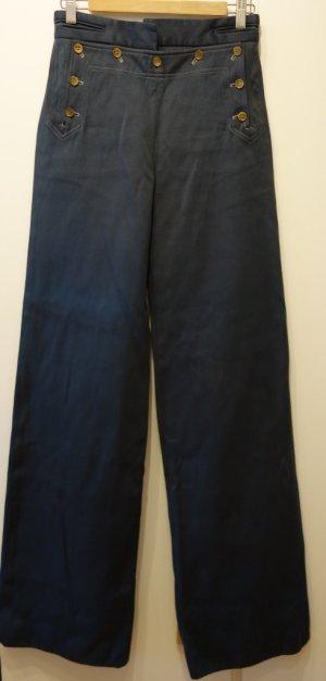 Céline Vintage high-waist Wide Leg Pantalon Hose Gr. 36 petrol Emerald Green