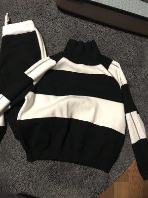 Celine wolle Anzug , schwarz -weiß