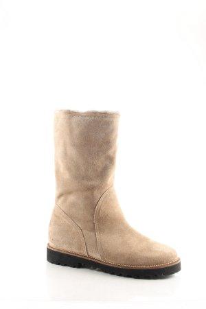 Cenedella Boots beige schlichter Stil