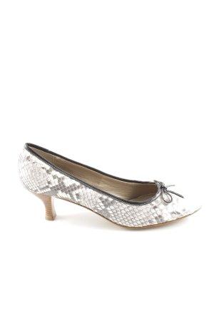 Cenedella High Heels weiß-hellgrau Allover-Druck extravaganter Stil