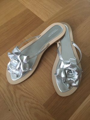Cenedella Toe-Post sandals silver-colored