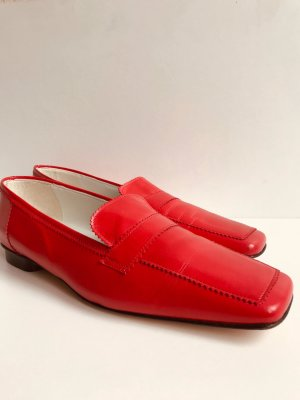 Cenedella Slippers brick red leather