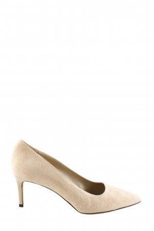 Cenedella Pointed Toe Pumps cream business style