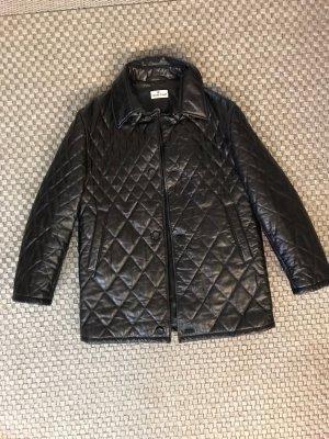 Cerruti 1881 Echtleder Mantel Ledermantel Lederjacke Stepmantel gesteppter Mantel Jacke dunkelbraun Vintage M L