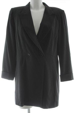 cerruti 1881 Long Blazer black-natural white pinstripe business style