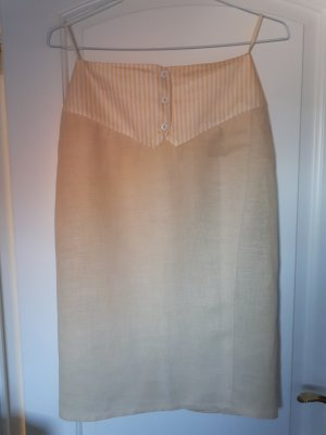 Cerruti Pencil Skirt pale yellow-cream
