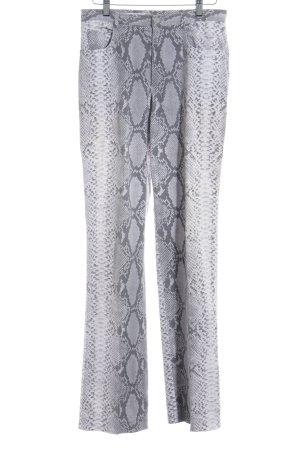 cerruti 1881 Straight Leg Jeans mauve-grey animal pattern reptile print
