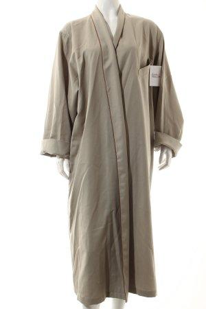 Cerruti bodenlanger Mantel hellbeige schlichter Stil