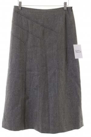 Cerruti High Waist Rock Zackenmuster Business-Look