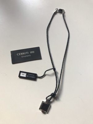 cerruti 1881 Collar estilo collier negro-color plata