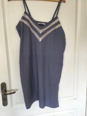 cerruti 1881 Robe de chambre bleu acier-blanc tissu mixte