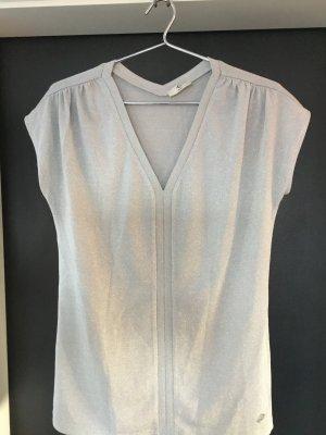 cerruti 1881 Camisa con cuello V color plata
