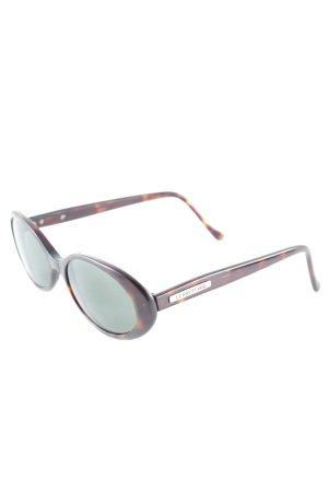 Cerruti ovale Sonnenbrille dunkelbraun-braun Farbverlauf Casual-Look