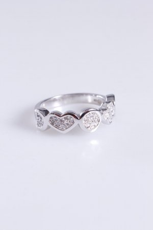 Cerruti Ring Herz Kleeblatt silber 52