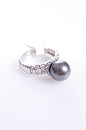 Cerruti Ring mit Perle grau 52