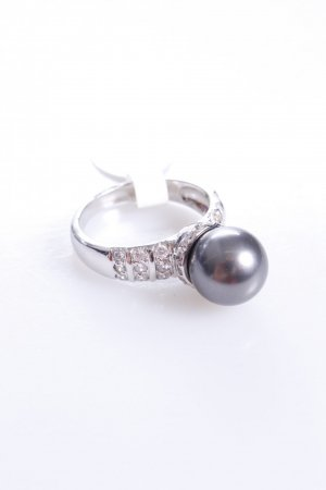 Cerruti Ring mit Perle grau 56