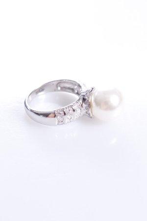 Cerruti Ring mit Perle weiß 54