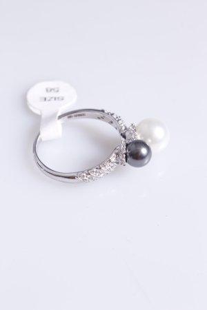 Cerruti Ring mit zwei Perlen grau weiß 60