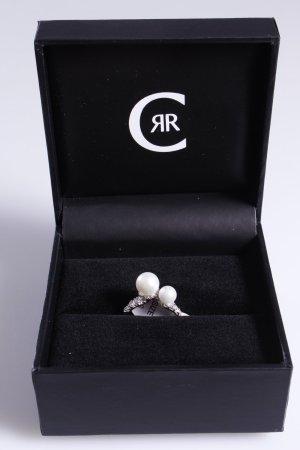 Cerruti Ring mit zwei Perlen weiß 56
