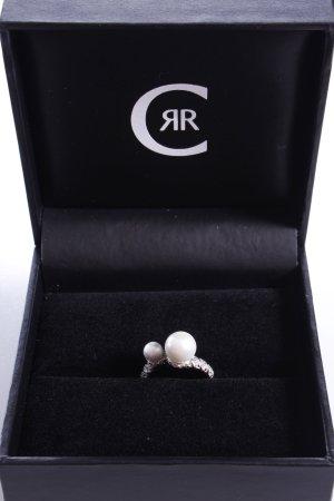 Cerruti Ring mit zwei weißen Perlen 60