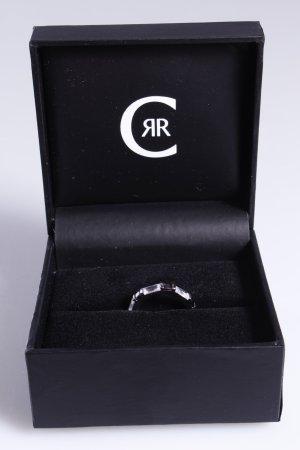 Cerruti Ring Schmucksteine silber schwarz 52
