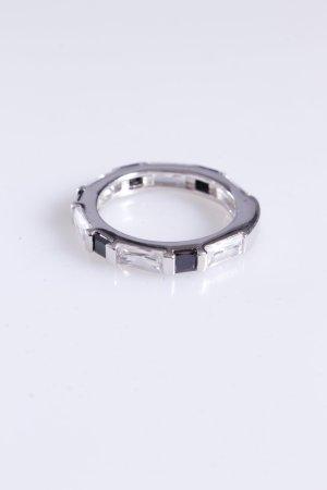 Cerruti Ring Schmucksteine silber schwarz 54