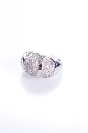 Cerruti Ring sechs Schmucksteine silber 56