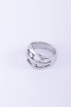 Cerruti Ring silver-colored wet-look