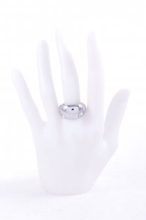 Cerruti Ring silver-colored spot pattern wet-look