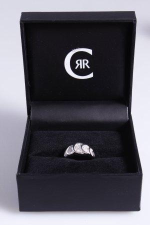 Cerruti Ring überlappende Steine silber 52