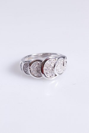 Cerruti Ring überlappende Steine silber 54
