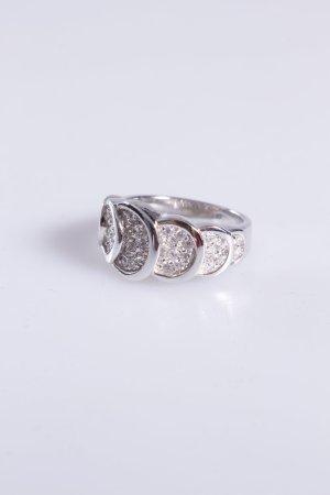 Cerruti Ring überlappende Steine silber 56