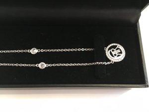 Cerruti Silberkette mit Logo Silber 925 und Zirkonia NEU UPV 139.-
