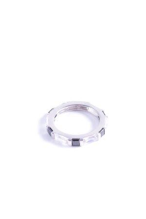 Cerruti Silberring silberfarben-schwarz Glanz-Optik
