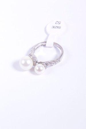 Cerruti Silberring silberfarben-weiß Eleganz-Look